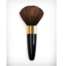 Brush for make up vector