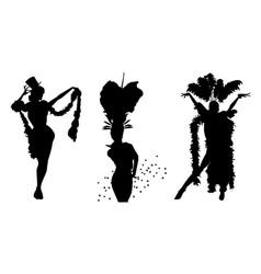 Cabaret dancers vector