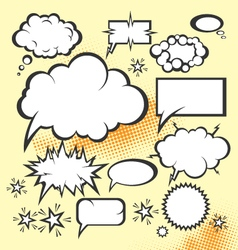 cartoon comic actions vector image