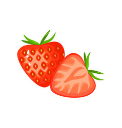 cartoon strawberry isolated on white background vector image
