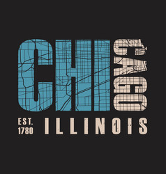 chicago illinois t shirt print vector image