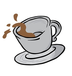 coffee cup spill vector image