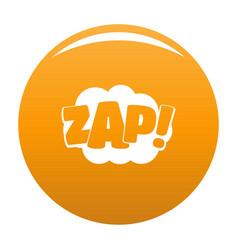 comic boom zap icon orange vector image