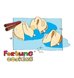 Cookie fortune vector