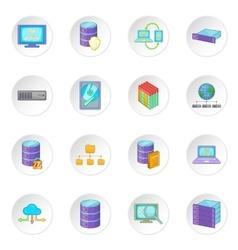 Data base icons set vector