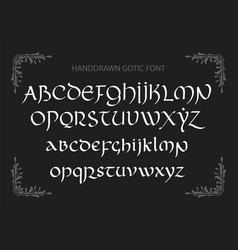 Decorative vintage magic styled letters vector