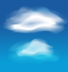Different white clouds set vector image