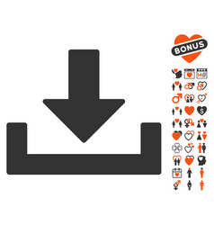Download icon with lovely bonus vector