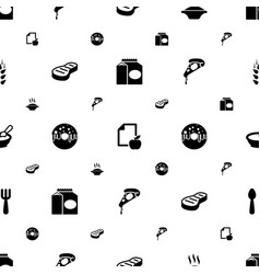 Eat icons pattern seamless white background vector