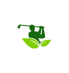 Eco golf logo icon design vector