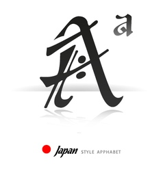 English alphabet in japanese style vector