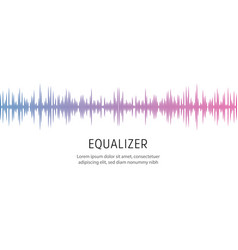 equalizer poster template sound wave or radio vector image