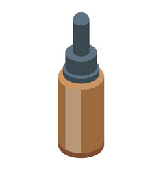 Essential oils pipette bottle icon isometric vector