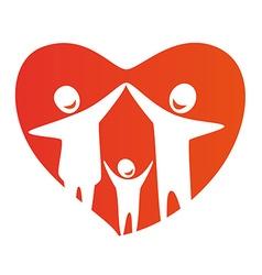 FamilyHeart vector image