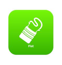 flat bag icon green vector image