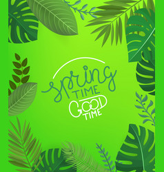 Floral background with lettering inscription vector
