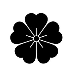 flower icon isolated on white background vector image