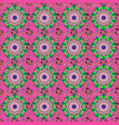 Flower print vintage outline floral pink neutral vector
