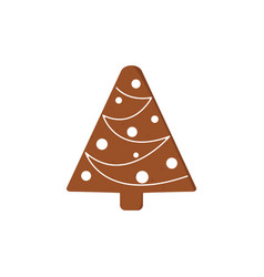 Gingerbread christmas cookies funny decorated vector