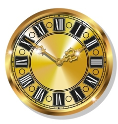 Gold vintage watches vector