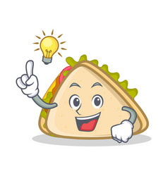 Have an idea sandwich character cartoon style vector