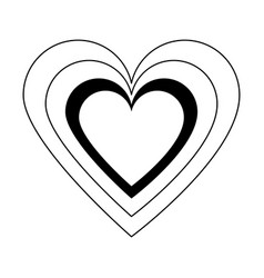 Heart cartoon icon image vector