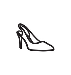High heel shoe sketch icon vector