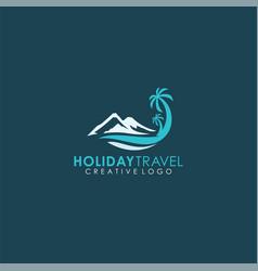 Holiday travel mountain scenery island travel lo vector