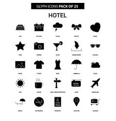 Hotel glyph icon set vector
