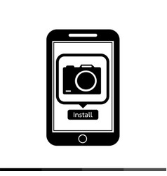 icon of smart phone mobile camera photo vector image