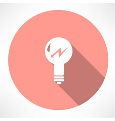 lamp with lightning icon vector image
