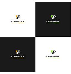 Letter vp abstract monogram modern logo vector