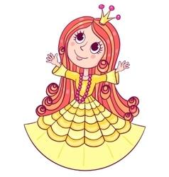 Little cute princess yellow vector