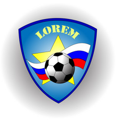 Logo of the russian football team with flag vector
