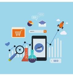 Mobile marketing elements vector image