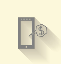 mobile with money vector image