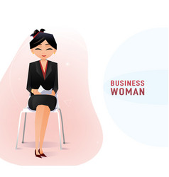Modern chinese business woman in the office vector