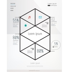 Modern geometric info graphics elements vector image