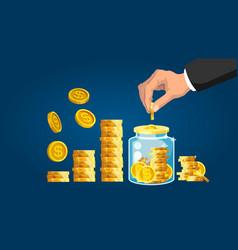 Money saving concept vector