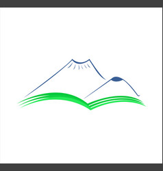 mountain hill vector image