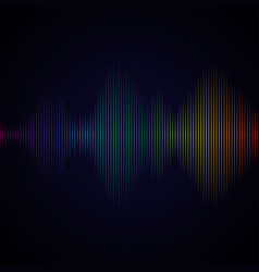 multicolor sound wave from equalizer background vector image