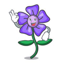 Okay periwinkle flower character cartoon vector