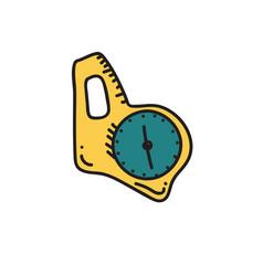 orienteering compass vector image