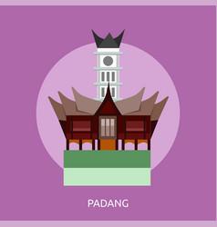 Padang conceptual design vector
