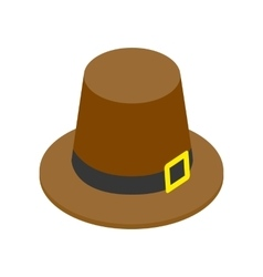 Pilgrim hat isometric 3d icon vector