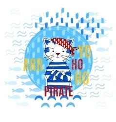 Pirate cat vector