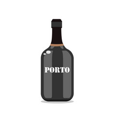 port wine bottle type traditional portuguese vector image