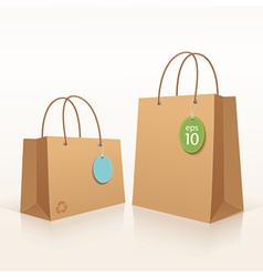 Recycle shopping brown bag vector