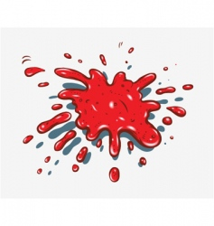 Red splash vector