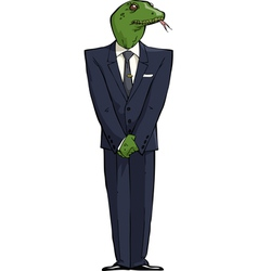 Reptilians in suit vector